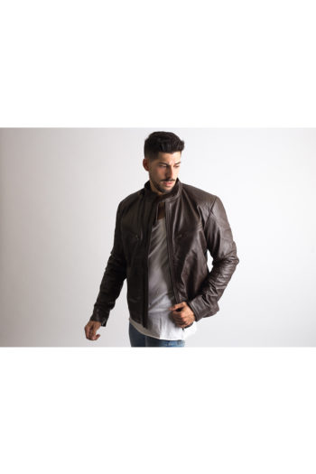 Mens Brown Vintage Leather Jacket