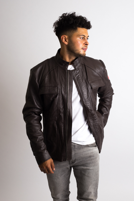 Mens Han Solo Brown Leather Jacket-1-11