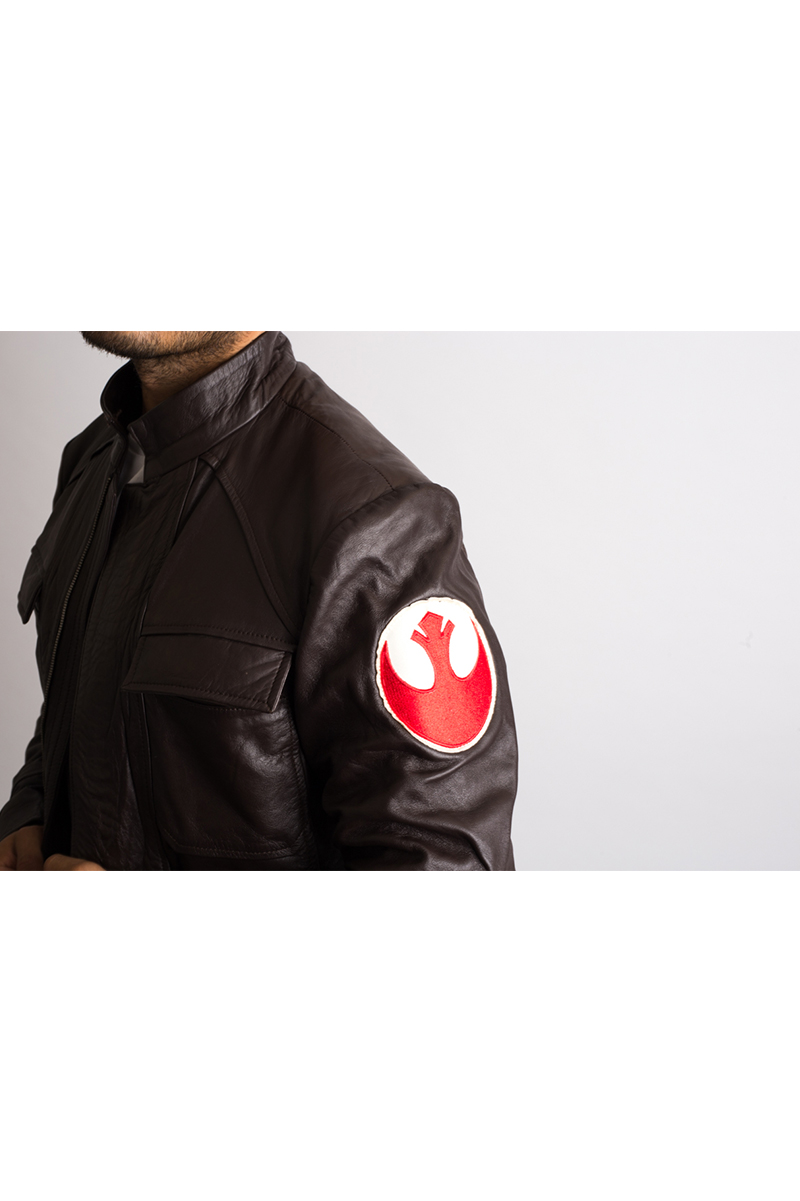 Mens Han Solo Brown Leather Jacket