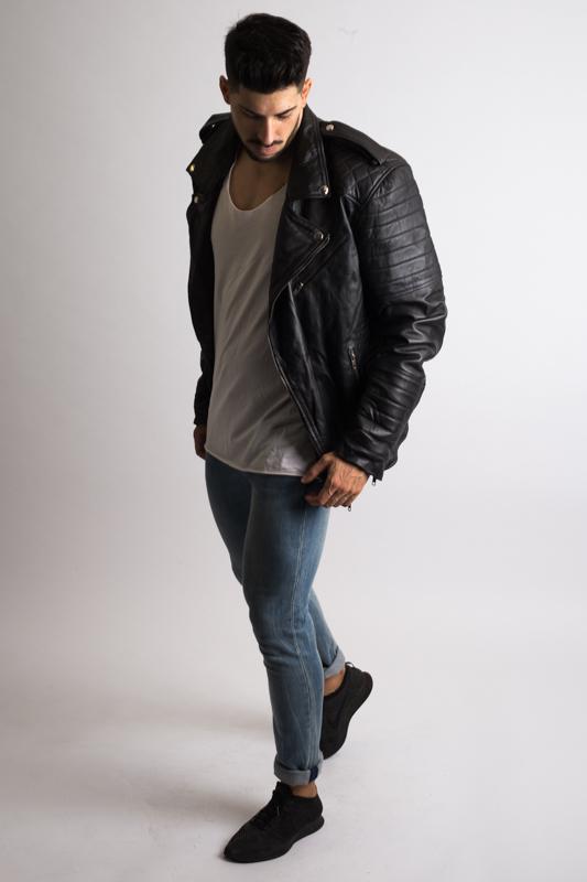 Vintage Biker Leather Jacket For Men