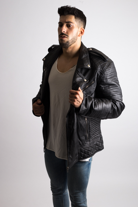 Vintage Biker Leather Jacket For Men-19