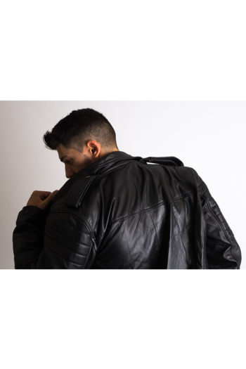 Vintage Biker Leather Jacket For Men