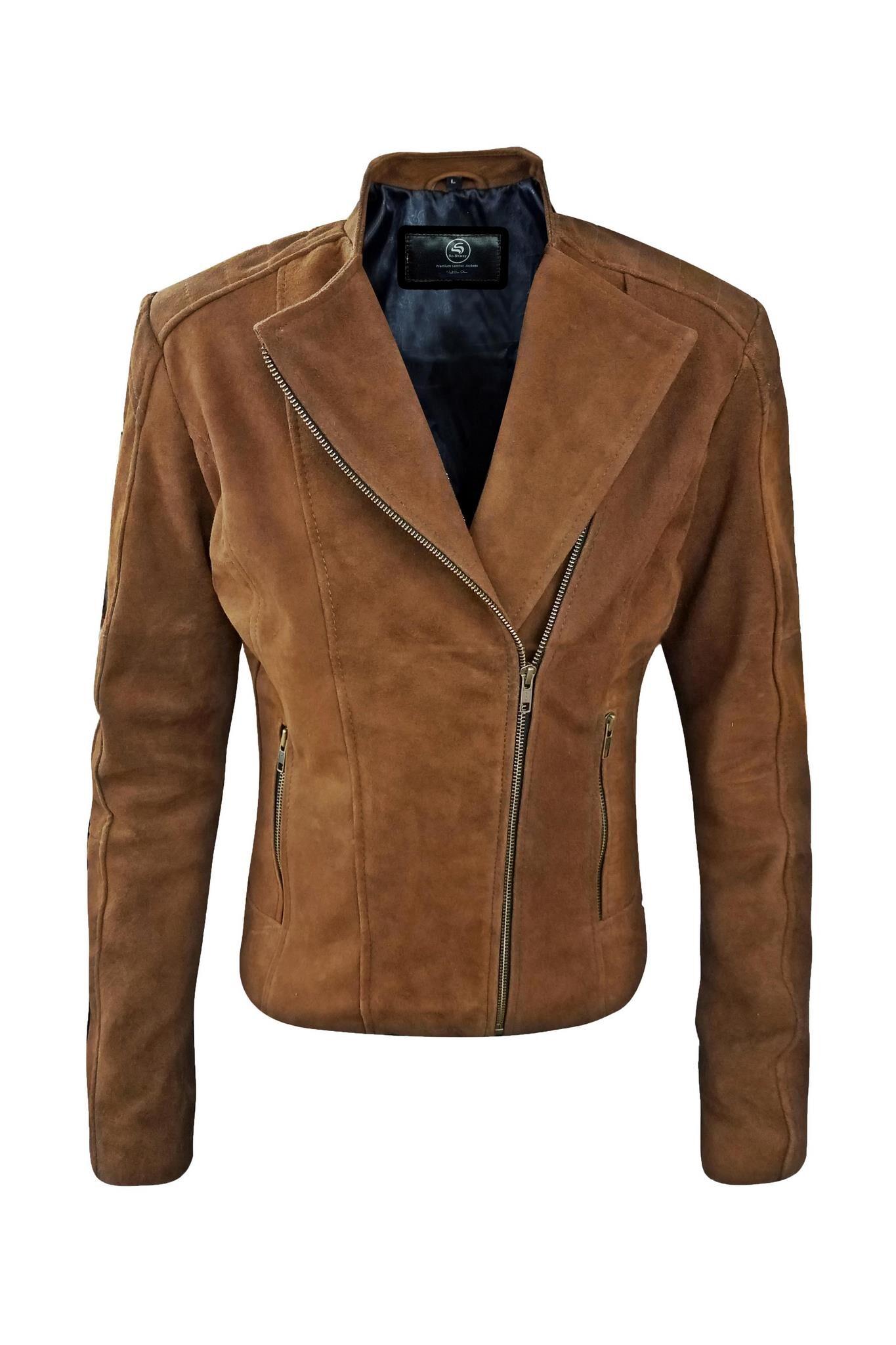 Naomi Suede Leather Jacket-5