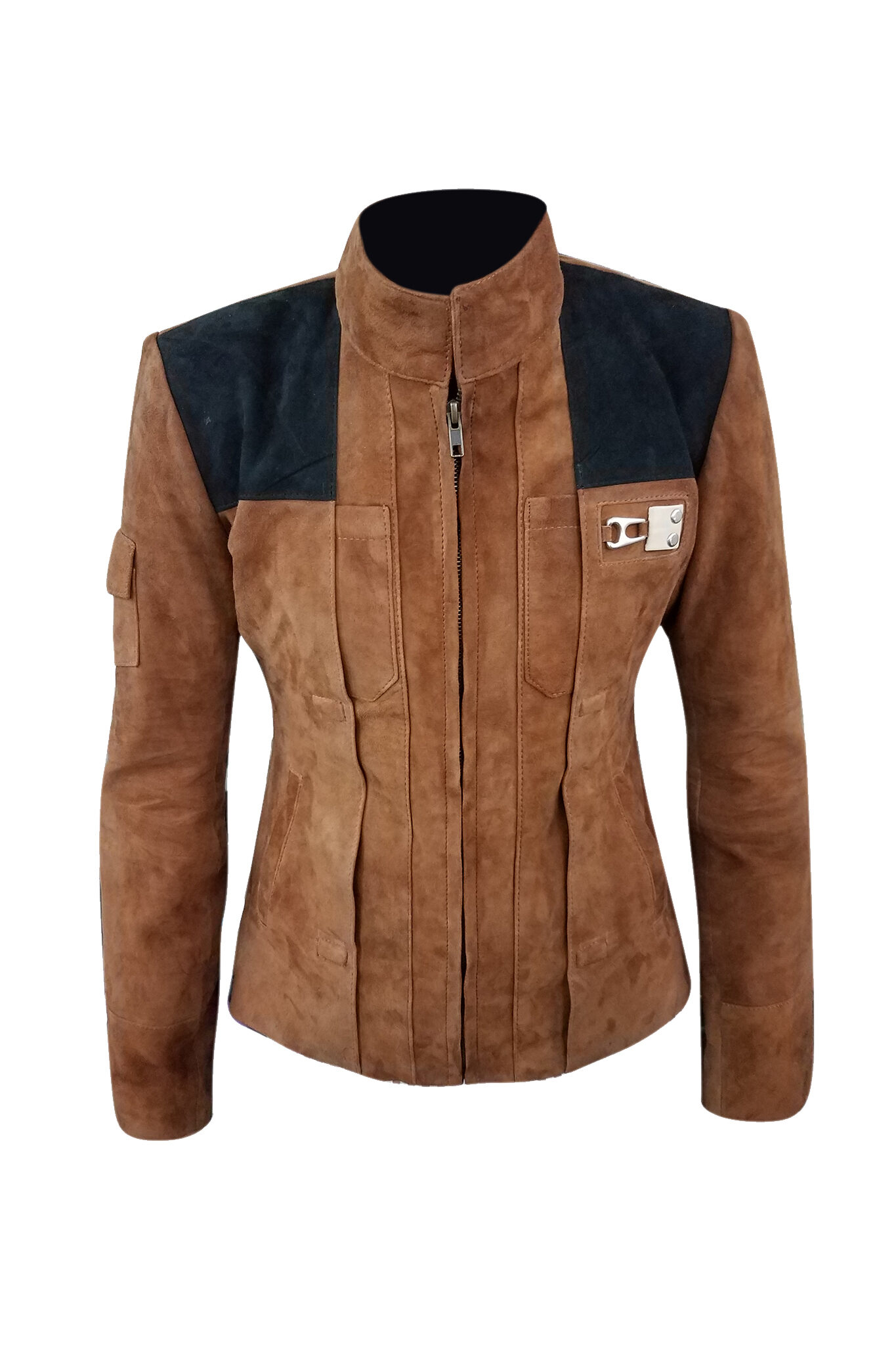Suede Leather Han Solo Jacket-1