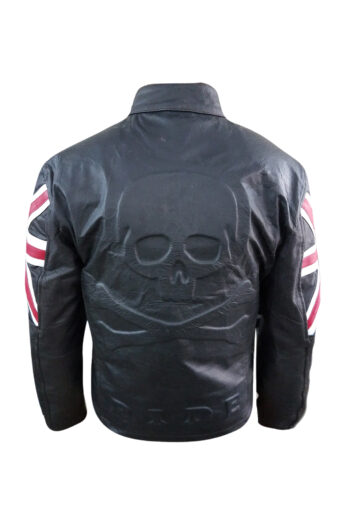 Uk Flag Mens Leather Jacket