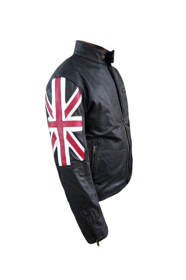 Uk Flag Mens Leather Jacket