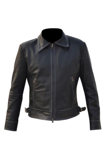 Mens-Double-White-Stitched-Leather-Jacket