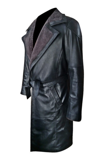 Mens-Trench-Sherling-Leather-Coat