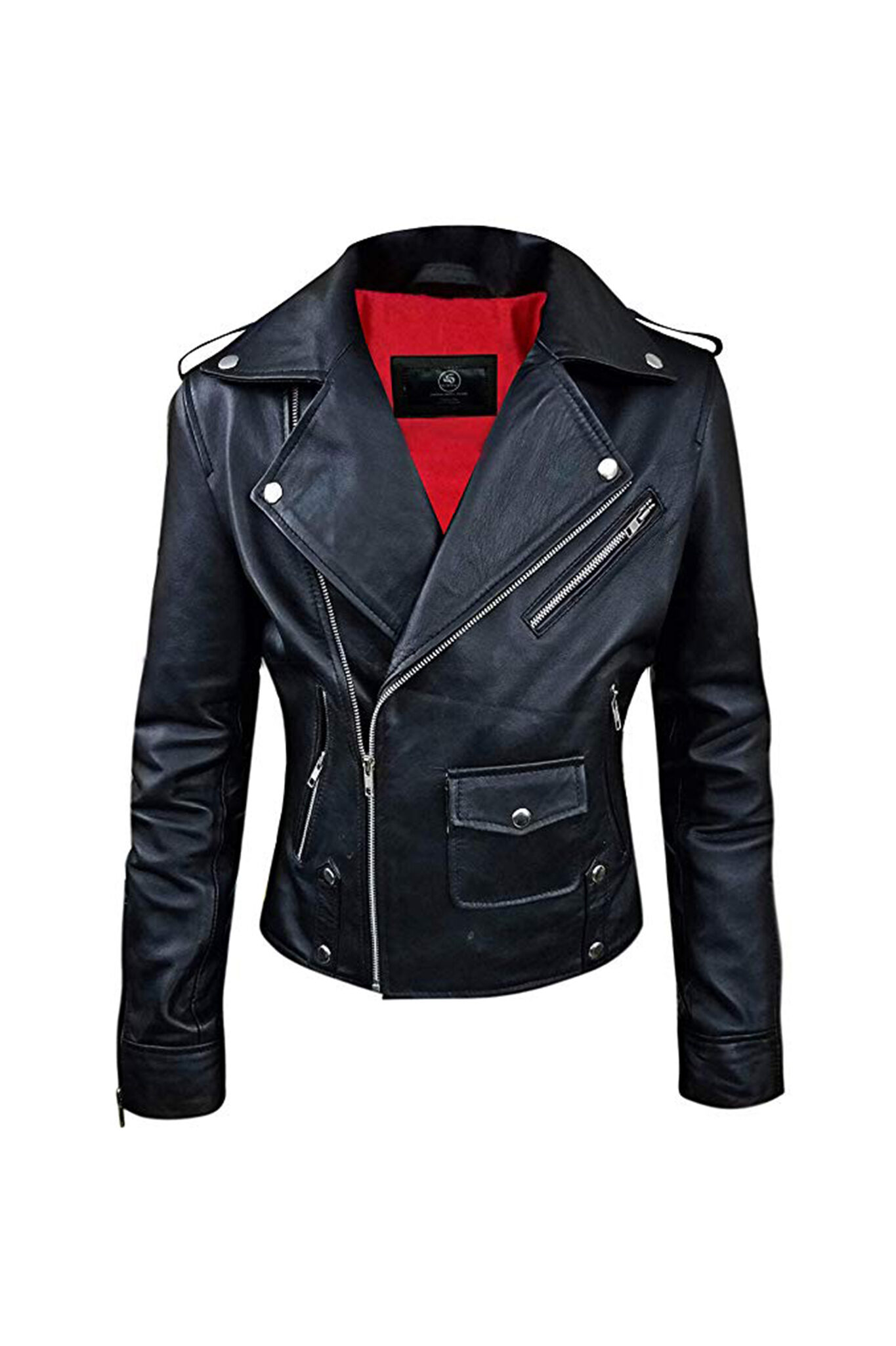 Womens Biker Real Leather Jacket