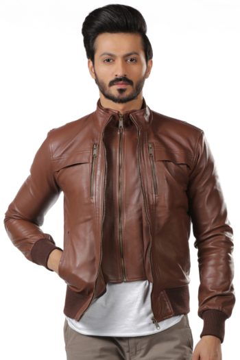 Zach Slim Fit Leather Jacket