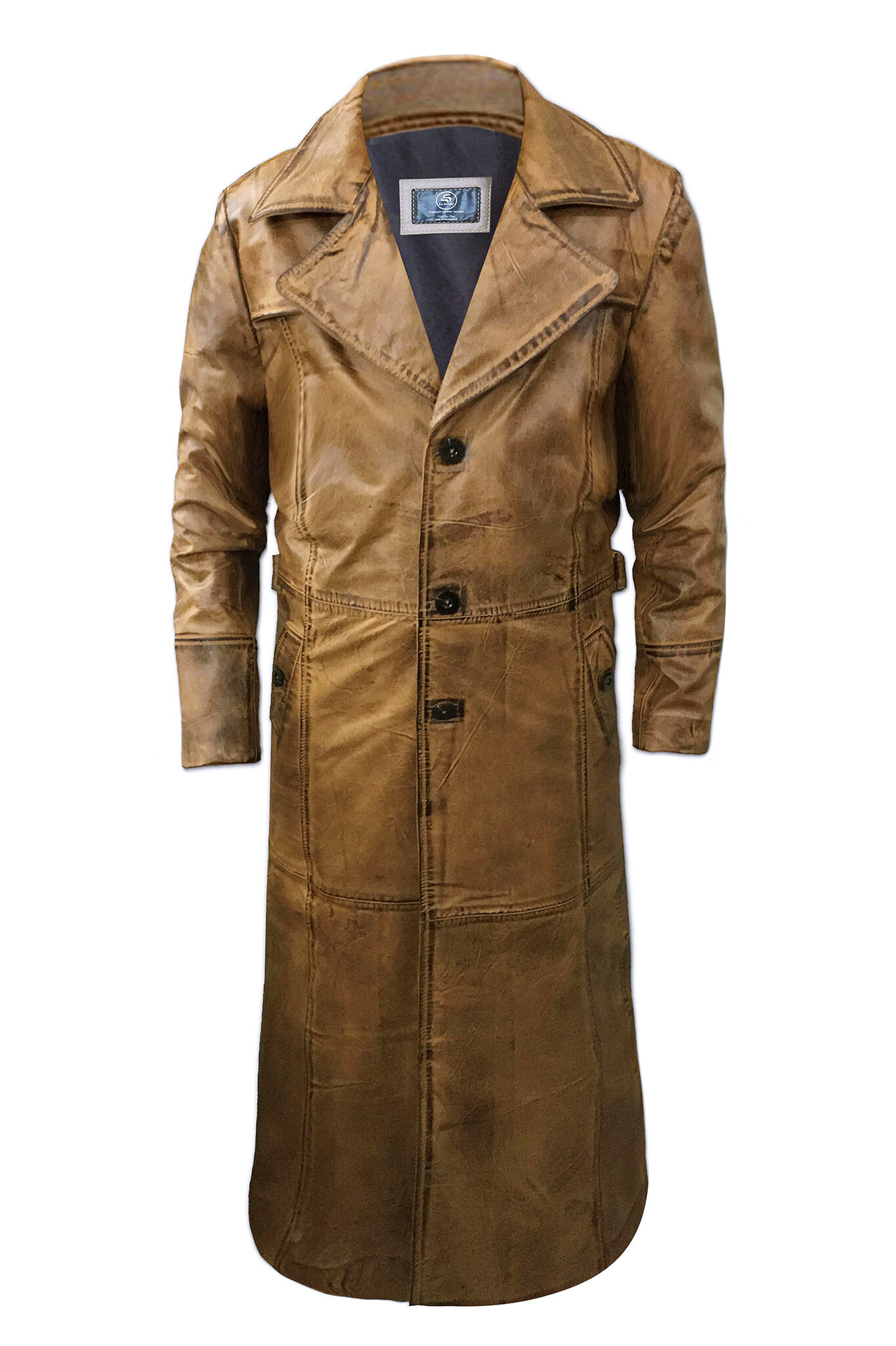 Mens Leather Trench Coat UK
