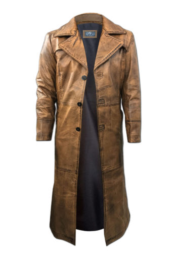 Leather Trench Coat for Men