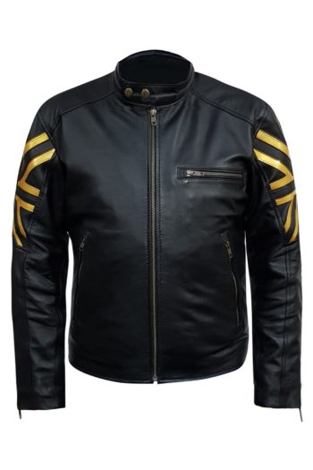 Black Uk Black Biker Sheepksin Leather Jacket