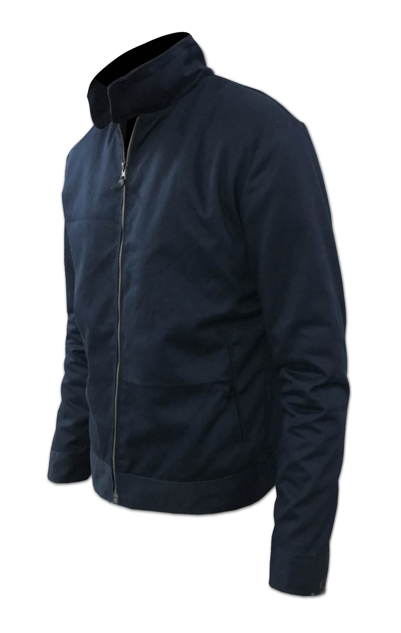 Blue Cotton Casual Jacket For Mens