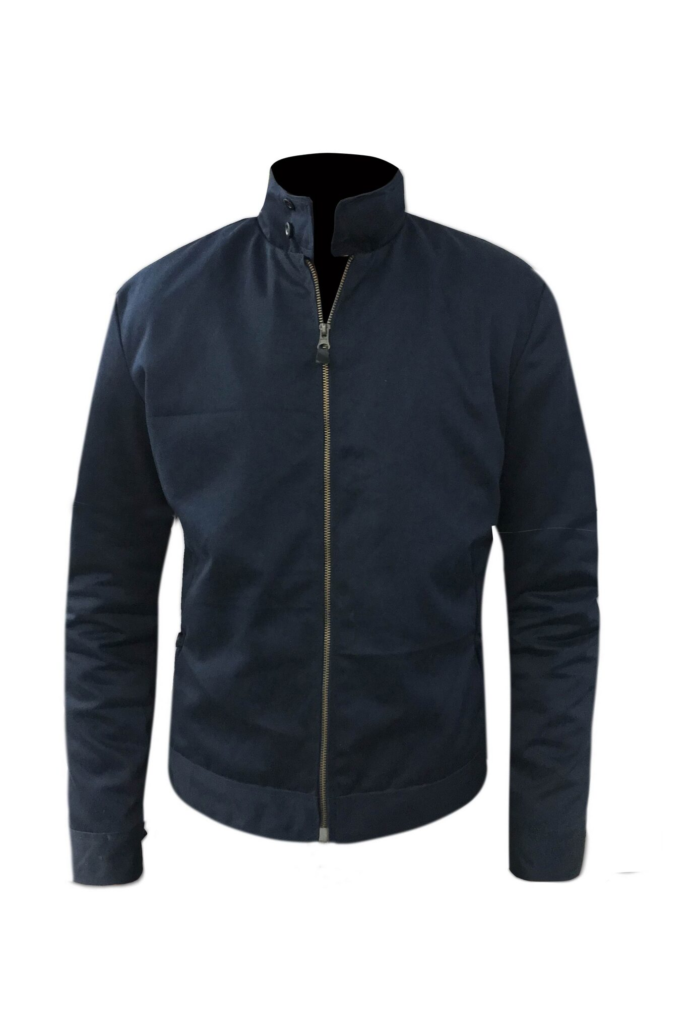 Blue Cotton Casual Jacket For Mens-7