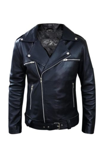 Black Biker Genuine Motorcycle Leather Jacket