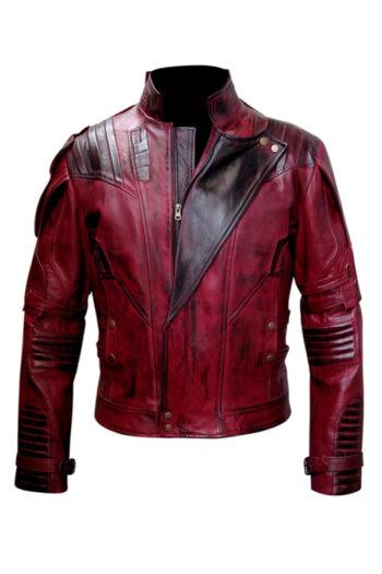 Maroon Waxed Genuine Mens Leather Jacket