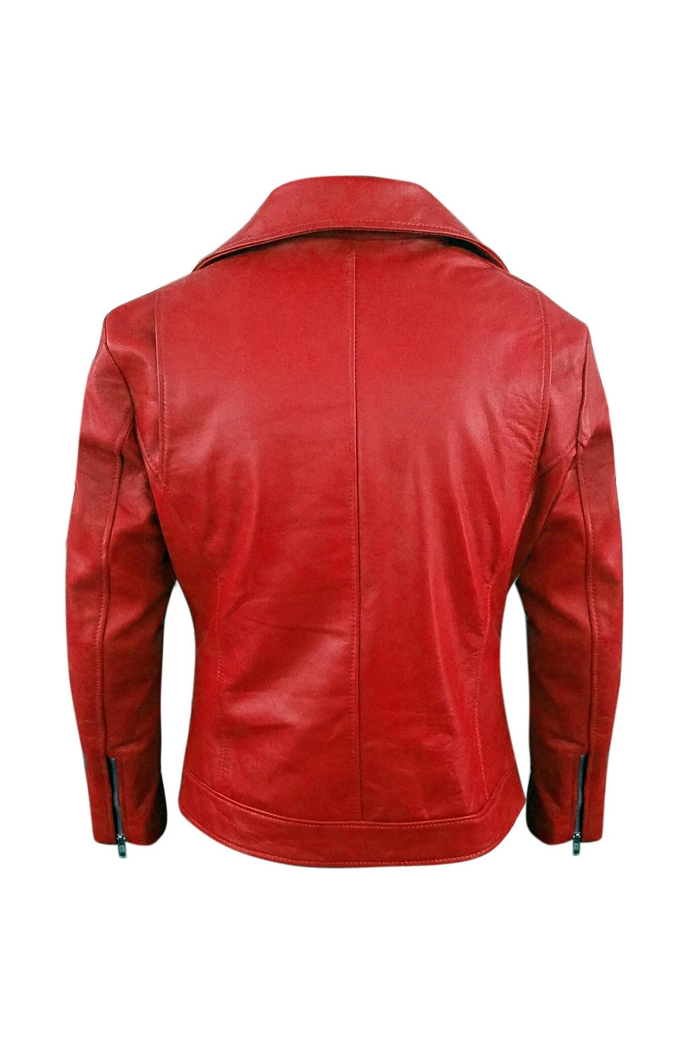 Mens-Red-Biker-Leather-Jacket