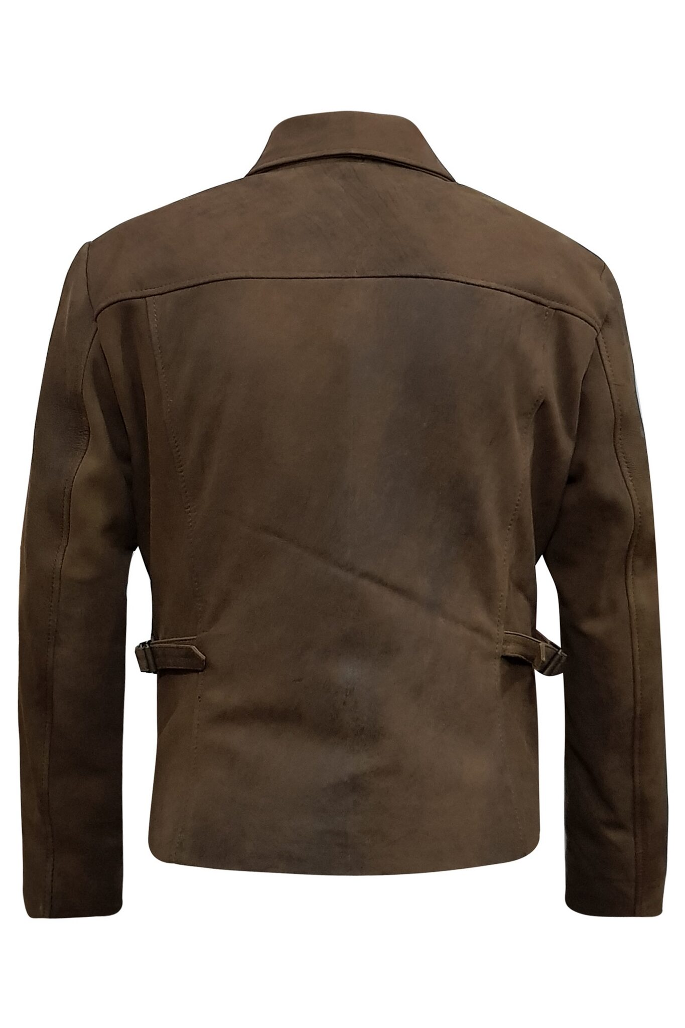 Mens Vintage Distressed Genuine Leather Jacket