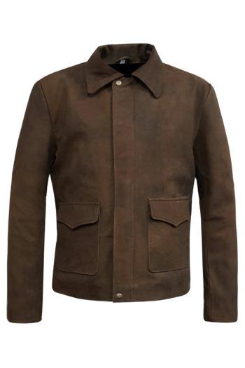Mens Vintage Distressed Genuine Leather Jacket