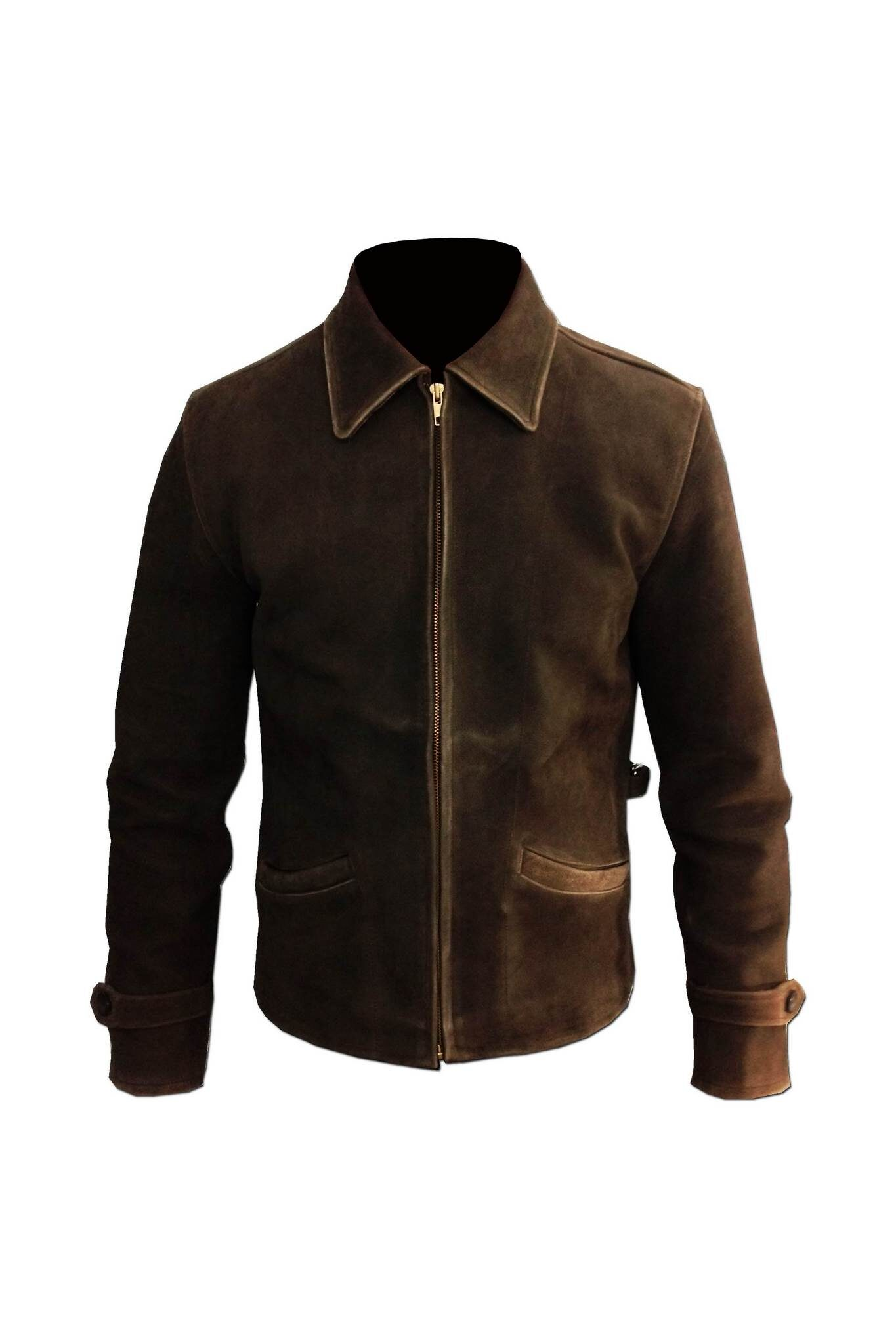Rub Off Mens Vintage Leather Jacket-3