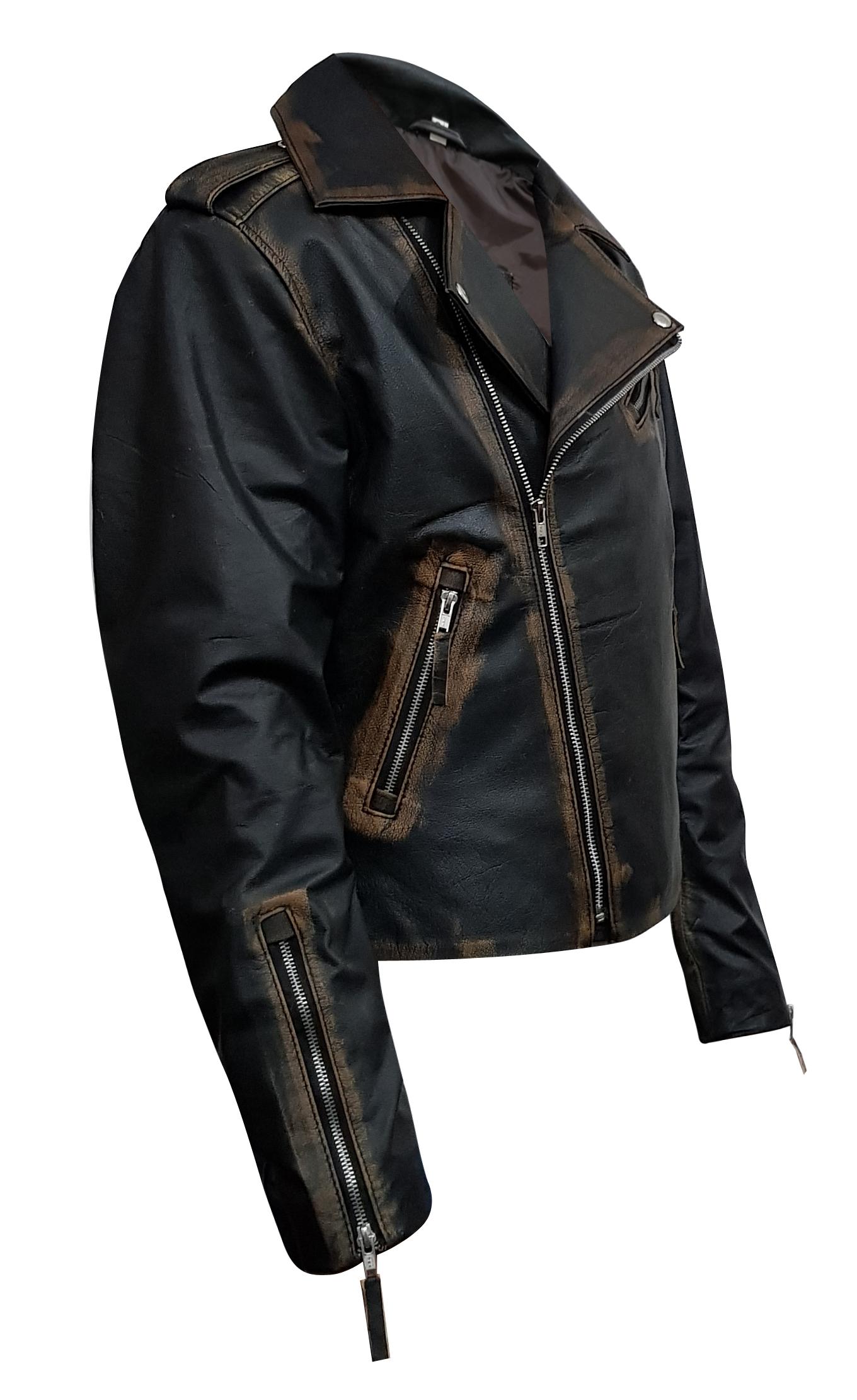 Rub Off Mens Vintage Leather Jacket