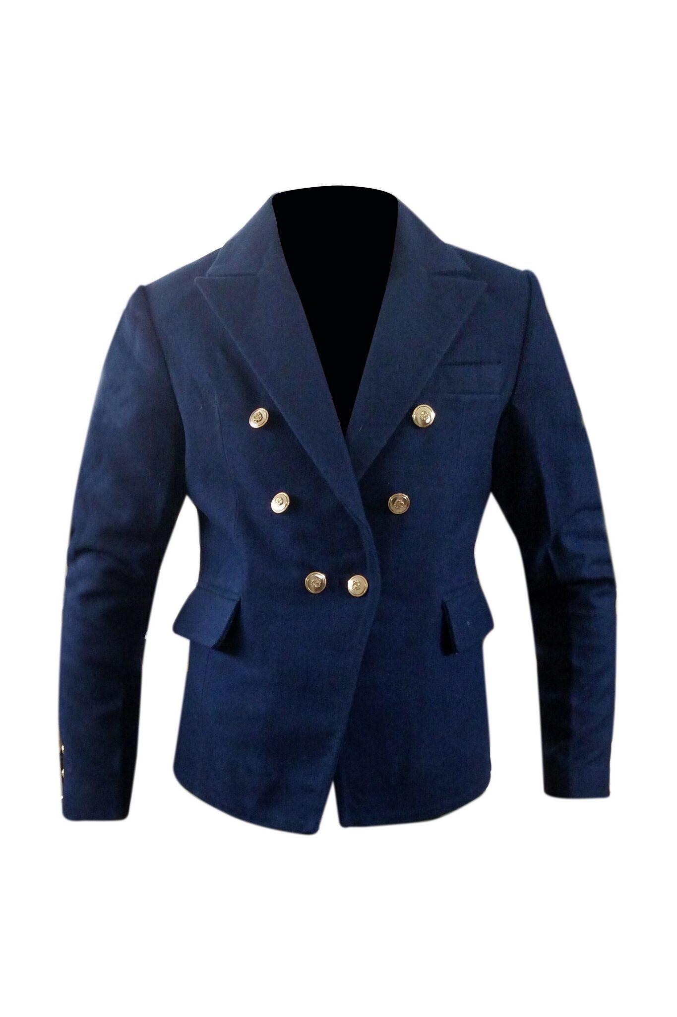 Women's Blazer Style Wool Coat-3