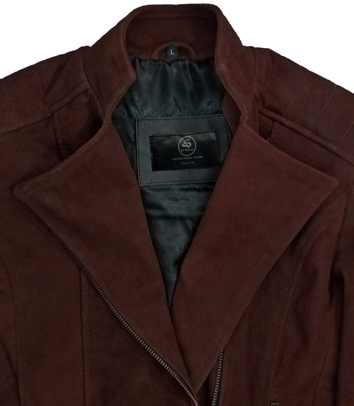 Womens Dark Brown Suede Leather Jacket