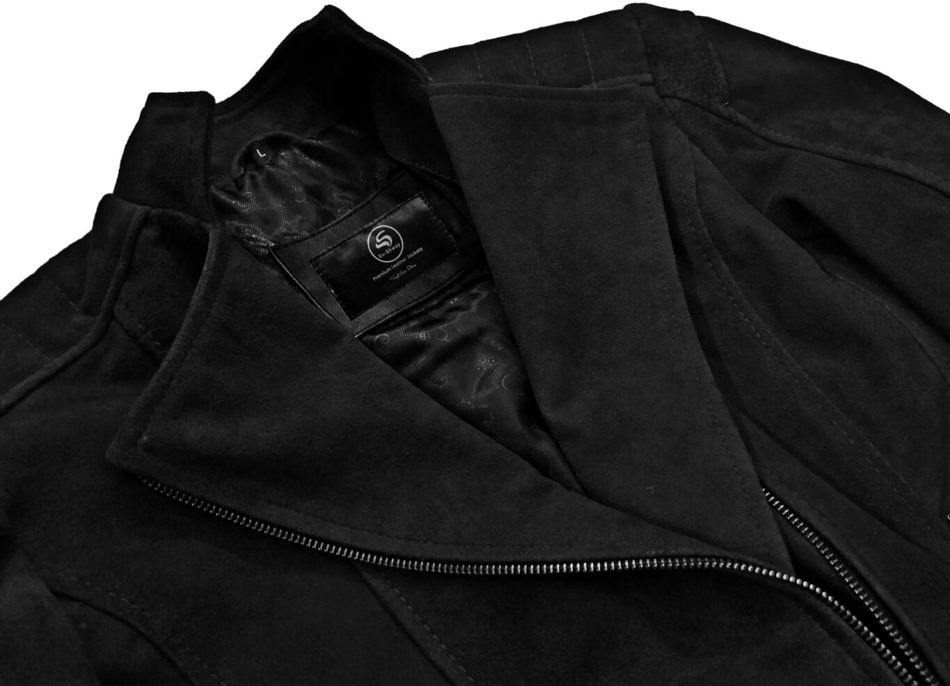 Womens black suede leather jacket