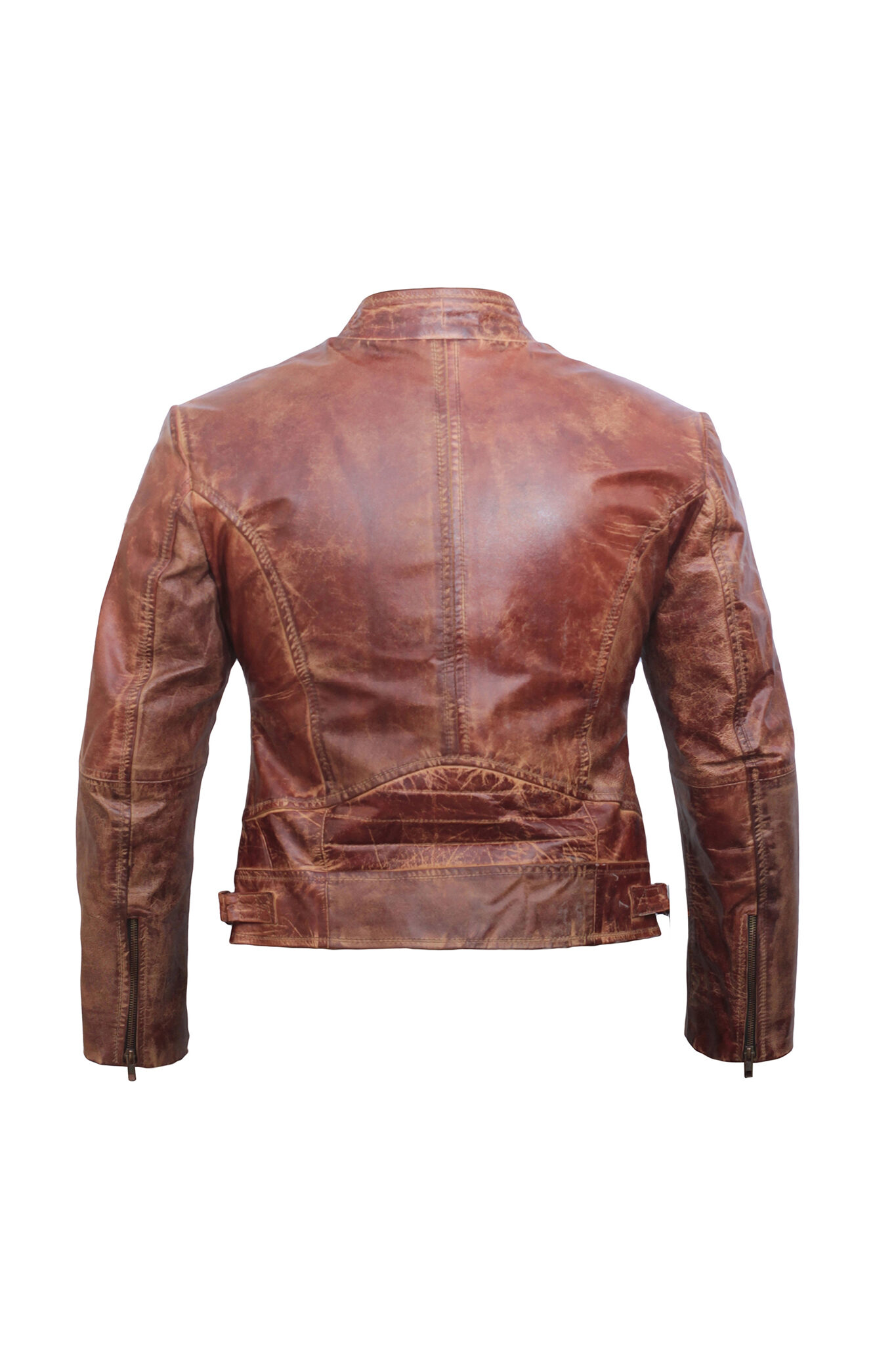 Brown Distressed Leather Jacket Women – Moto Jacket Women – Leather Jackets for Women-2