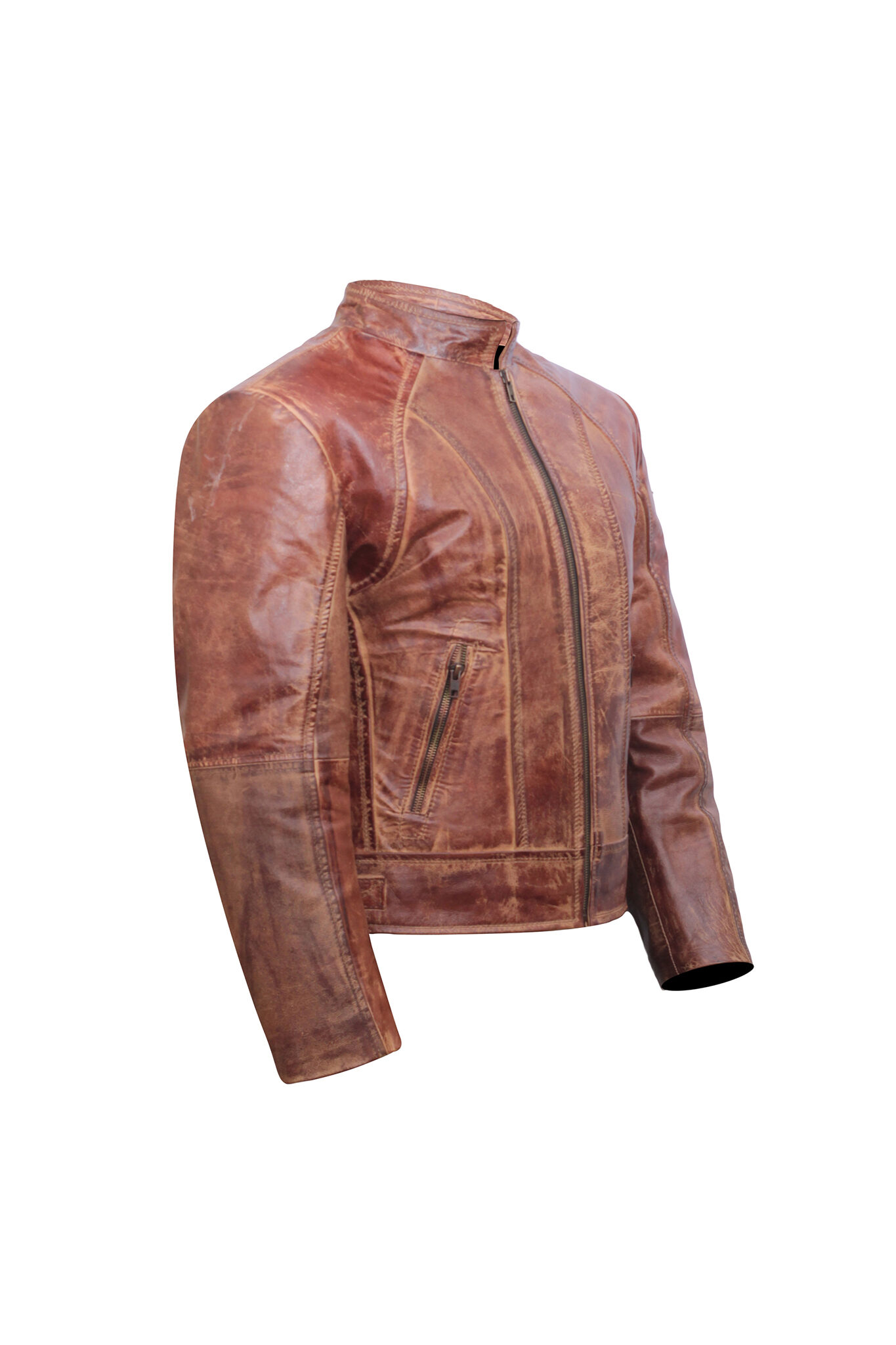 Brown Distressed Leather Jacket Women – Moto Jacket Women – Leather Jackets for Women-3