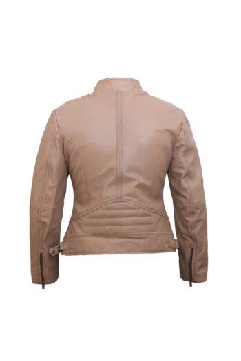 Brown Leather Jacket Women – Motorbike Jacket Women – Leather Jackets for Women-2
