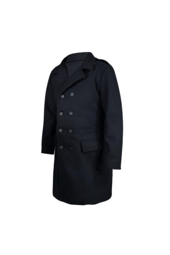 Winter Mens Fashion Long Style Double Breasted Wool & Blends Coat
