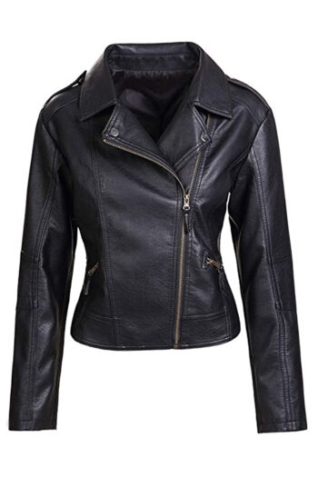 Womens-Black-Biker-Motorcycle-Leather-Jacket